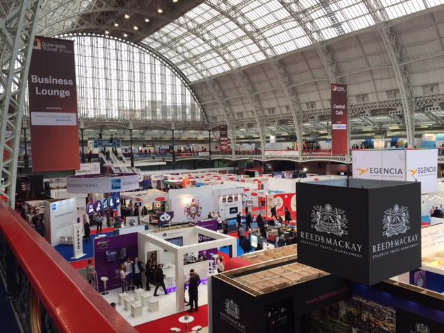 Show floor of Travel Technology Europe London 2015
